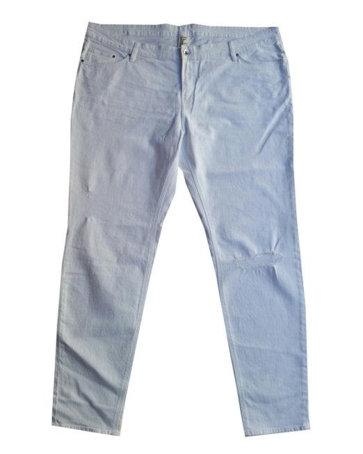 H M - Jeans in cotone e organico bianco con strappi ... 215437035b8