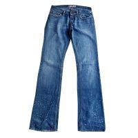 FORNARINA - Jeans in cotone blu a vita bassa modello Bjork