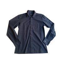 ICEBERG - Camicia in cotone blu con abbottonatura nascosta