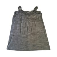 CALVIN KLEIN - Top in rayon e spandex grigio