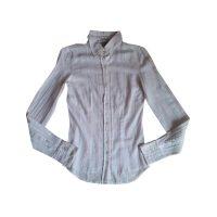 WOOLRICH - Camicia in cotone bianco a righe rosa