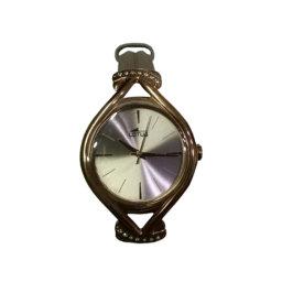 Lotus - Orologio in metallo dorato e cinturino ecru