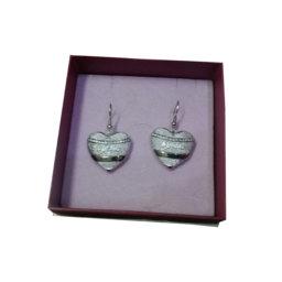 BYBLOS - Orecchini pendenti a cuore metal base argenteo