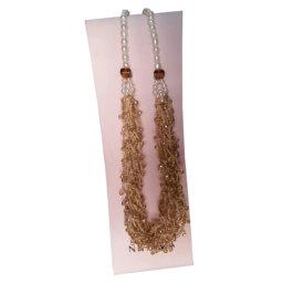 Nihama - Collana con perle e lavorazione manuale con cristalli