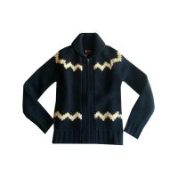Levi's - Cardigan in lana e rifiniture in lana giallo