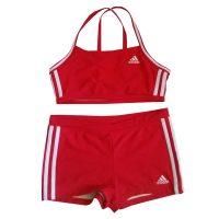 Adidas - Costume da bagno a due pezzi in sintetico rosso - Infinitex