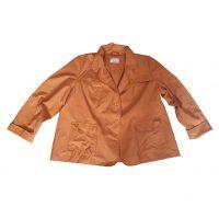 Marina Rinaldi - 3XL - Giacca leggera in cotone e poliammide arancione
