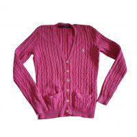 Ralph Lauren Sport - L - Cardigan in cotone rosa intenso