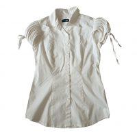 No Name - M - Camicetta in cotone elasticizzato bianco