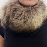 No Name - Collo in pelliccia di volpe marrone