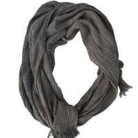 Angelo Lacagnina - Sciarpa in cotone grigio lavato