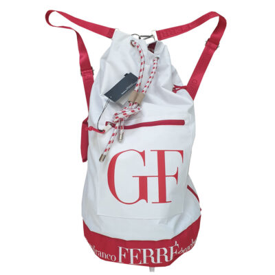 Gianfranco Ferré - Zaino in tela rosso e bianco