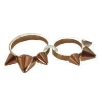 Mango - Set di anelli in metallo dorato